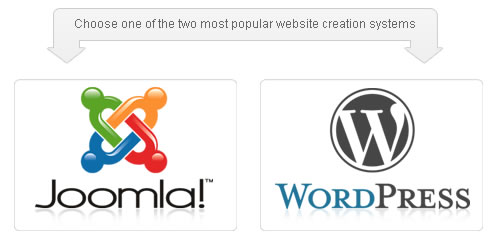 Select Wordpress or Joomla site builder